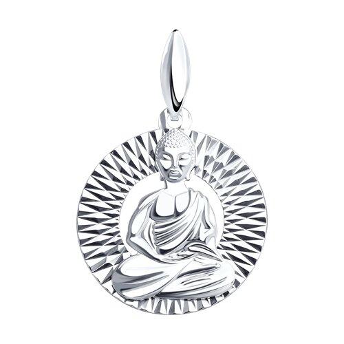 Подвеска из серебра «Будда»