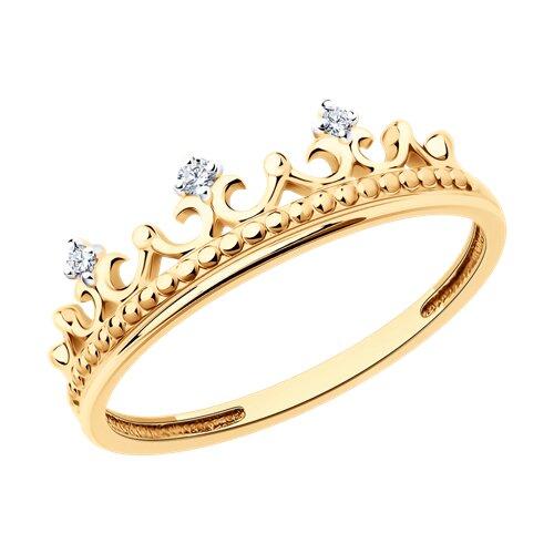 Кольцо «Корона» SOKOLOV из золота с бриллиантами