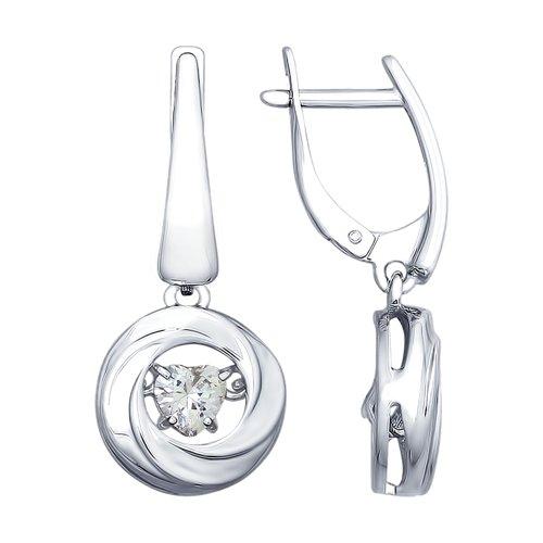 Серьги из серебра со Swarovski Zirconia (89020090) - фото
