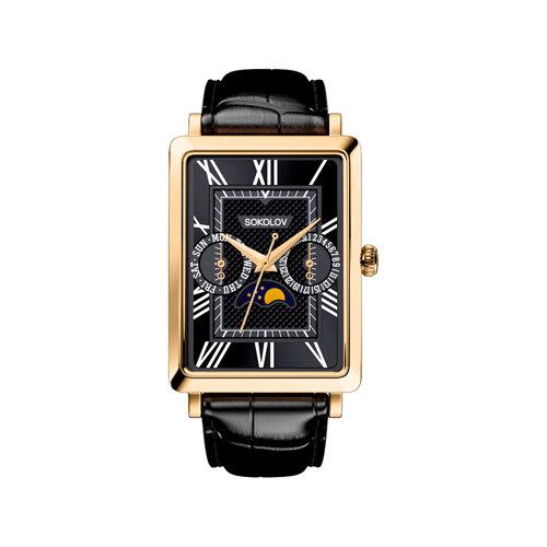 Мужские золотые часы (233.02.00.000.02.01.3) - фото №2
