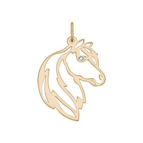 цена на Подвеска «Лошадь» SOKOLOV из комбинированного золота