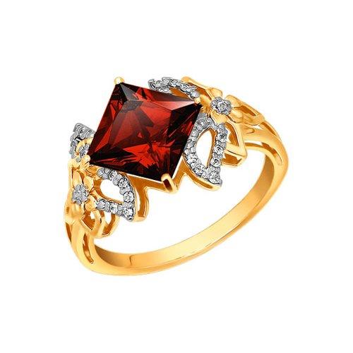 Золотое кольцо с гранатом SOKOLOV золотое кольцо ювелирное изделие 01k645533