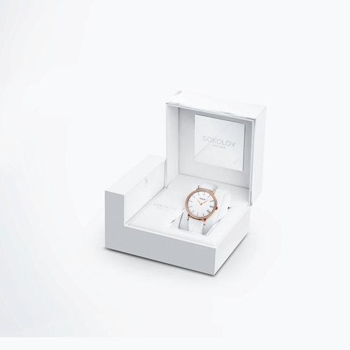 Женские золотые часы (210.01.00.001.01.02.2) - фото №4