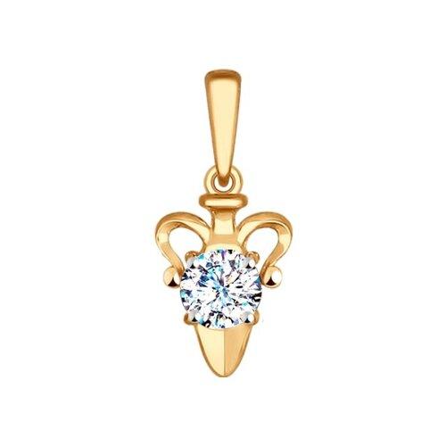 Подвеска «Знак зодиака Водолей» SOKOLOV из красного золота