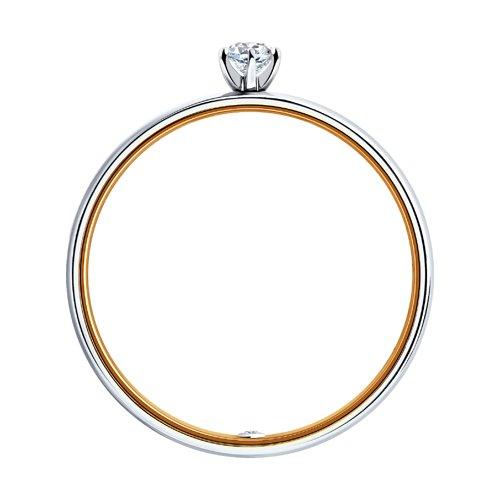 Кольцо из комбинированного золота с бриллиантами (1014009-01) - фото №2