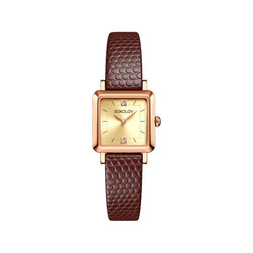 Женские золотые часы (231.01.00.000.06.07.2) - фото №2