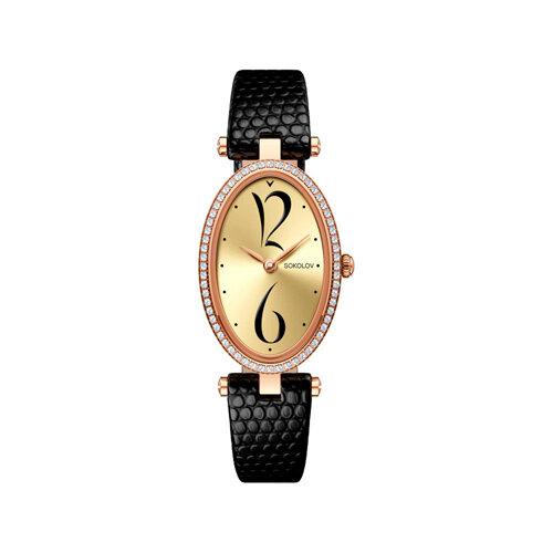 Женские золотые часы (236.01.00.100.06.01.2) - фото №2