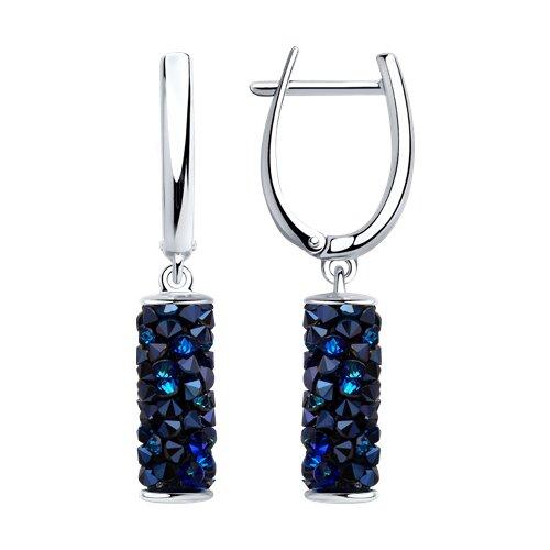 Серьги из серебра с синими кристаллами Swarovski 94023183