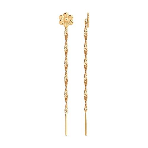 цена на Серьги-цепочки SOKOLOV из золота