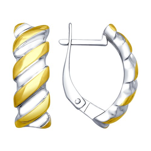 Серьги из золочёного серебра (94022712) - фото