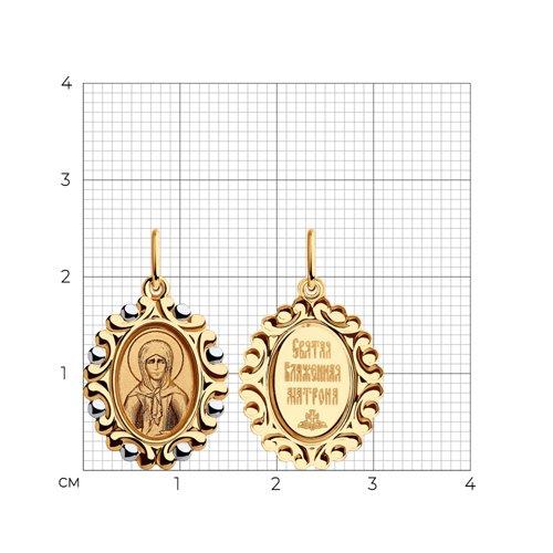 Подвеска из золота с эмалью и лазерной обработкой 104195 SOKOLOV фото 2