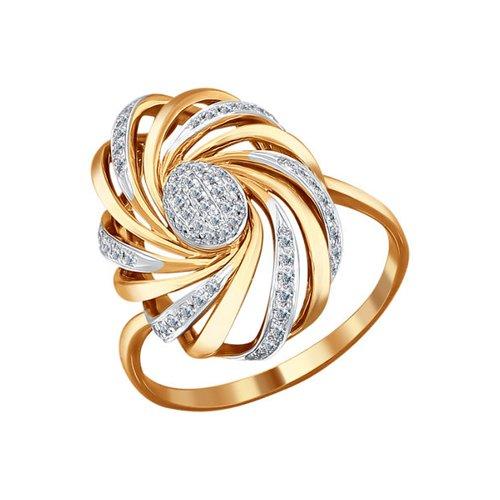 Крупное золотое кольцо с бриллиантами SOKOLOV золотое кольцо ювелирное изделие 01k645533