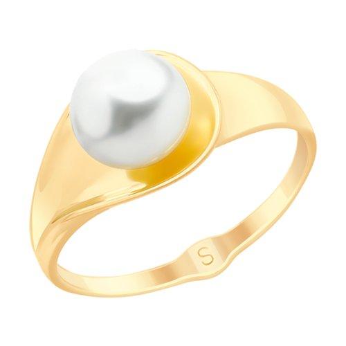 Кольцо из золота с жемчугом (791099) - фото