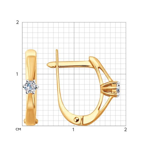 Серьги из золота с бриллиантами (1020891) - фото №2