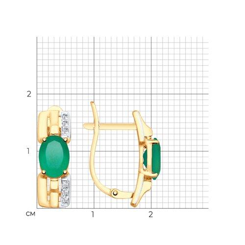 Серьги из золота с агатами и фианитами 725629 SOKOLOV фото 2