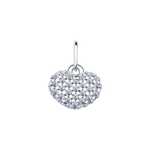 Кулон «Сердечко» из серебра (94031422) - фото