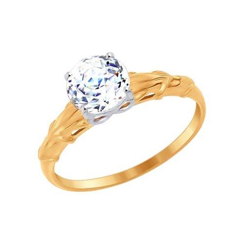 Кольцо из золота со вставкой Swarovski Zirconia