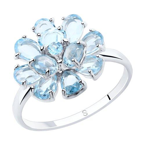 Кольцо из серебра с топазами (92011841) - фото