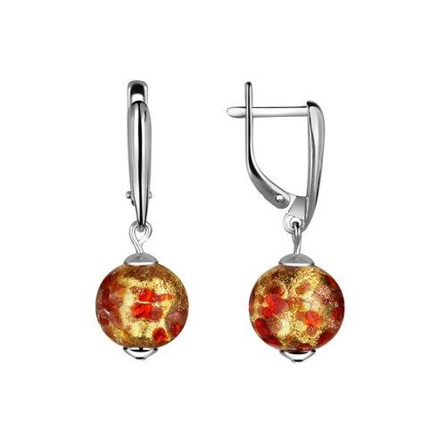 Серьги из серебра с муранским стеклом cacharel золотые серьги с халцедонами и муранским стеклом xy305gmuv