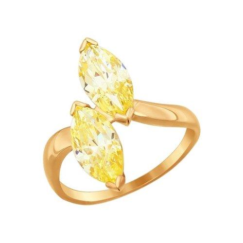 Кольцо SOKOLOV из золота с фианитами золотое кольцо ювелирное изделие 01k645533