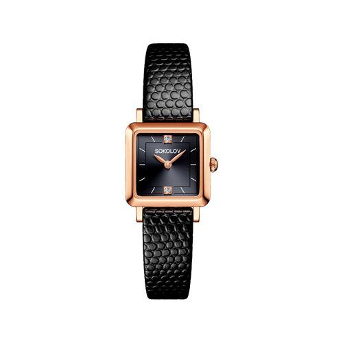 Женские золотые часы (231.01.00.000.07.01.2) - фото №2