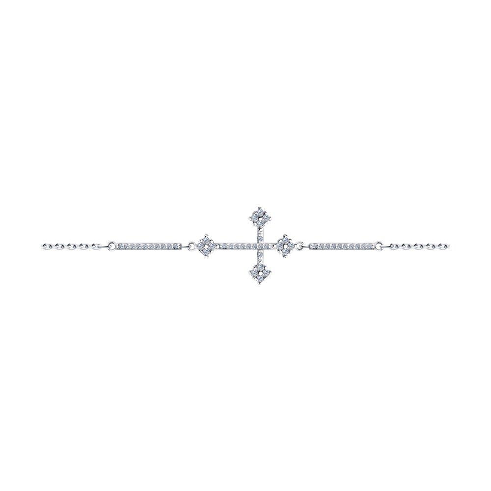 Браслет SKLV из серебра с фианитами браслет с 52 фианитами из серебра