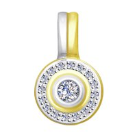 Подвеска из желтого золота с бриллиантами
