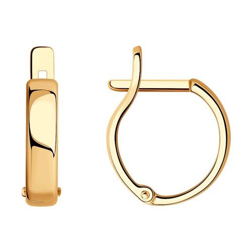 Классические золотые серьги