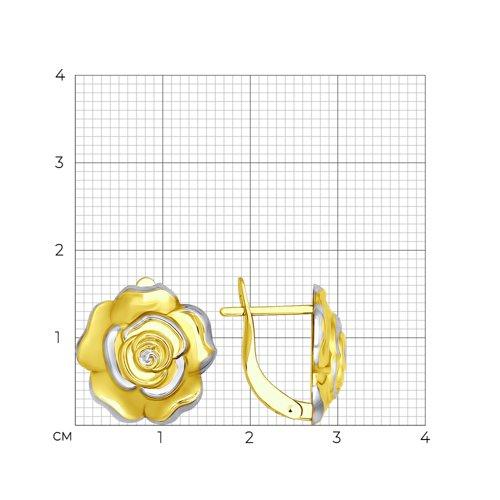 Серьги из желтого золота (027531) - фото №2