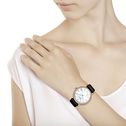 Женские золотые часы (210.01.00.100.02.01.2) - фото №3