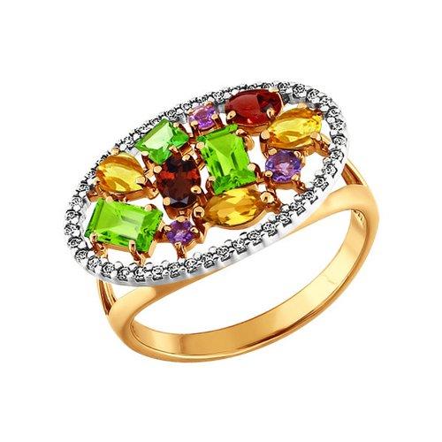 Золотое кольцо с полудрагоценными вставками SOKOLOV золотое кольцо с жемчужиной sokolov