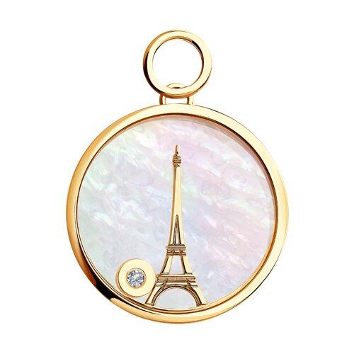 Золотая подвеска la tour eiffel (1030423) - фото