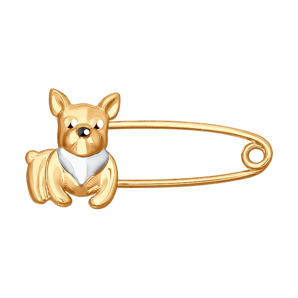 Брошь «Собачка» SOKOLOV из золота недорого