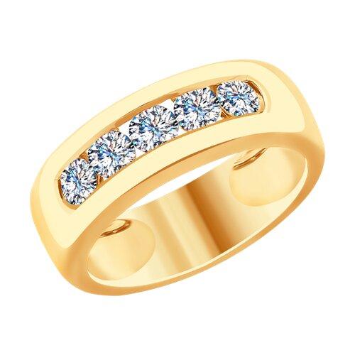 Кольцо из золота с бриллиантами (1011740) - фото