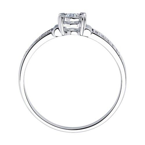 Кольцо из белого золота с бриллиантами (1011803) - фото №2