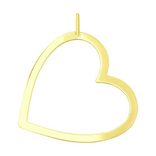 """Подвеска """"Сердце"""" из желтого золота"""
