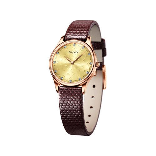 Женские золотые часы (238.01.00.000.09.04.2) - фото