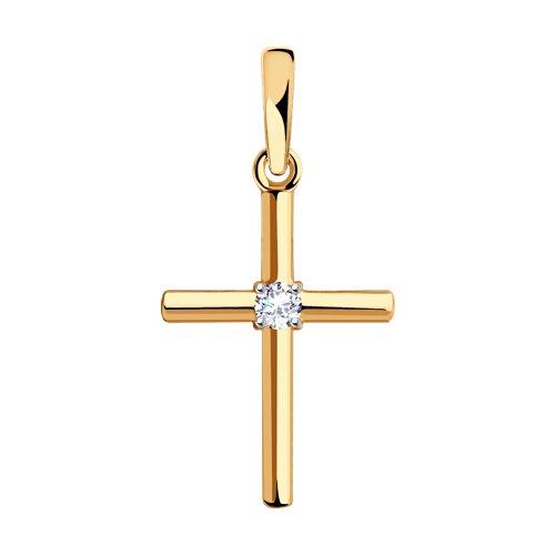 Подвеска из золота с фианитом Сваровски