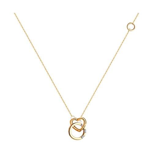 Колье из золота с бриллиантами (1070094) - фото