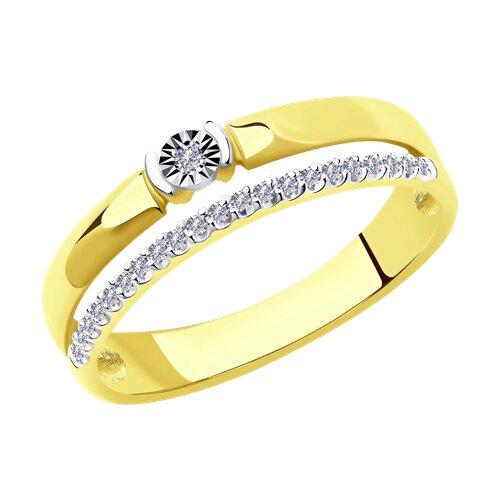 Кольцо комбинированное с бриллиантами 1012013-2 sokolov фото