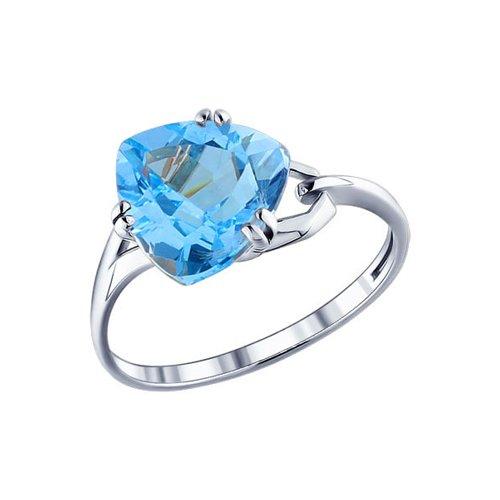Кольцо из серебра с топазом (92010009) - фото