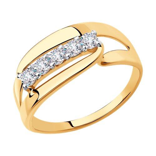 Кольцо из золота с фианитами 018332 SOKOLOV фото