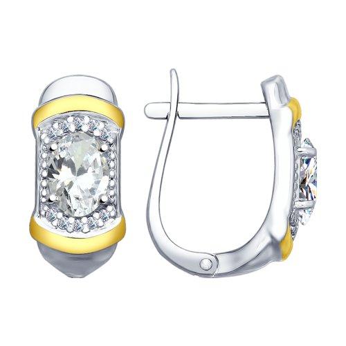 Серьги из серебра с фианитами (94022643) - фото