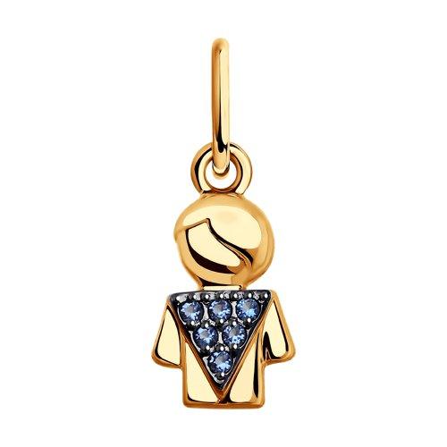 Подвеска из золота «Мальчик» (035522) - фото