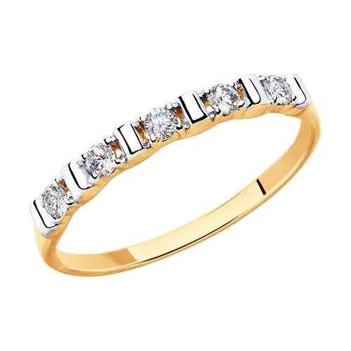 Кольцо из золота со Swarovski Zirconia (81010415) - фото