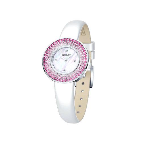 Женские серебряные часы (128.30.00.006.01.02.2) - фото