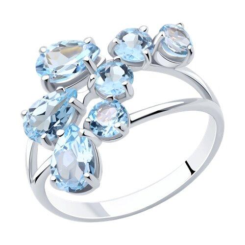 Кольцо из серебра с топазами (92010008) - фото