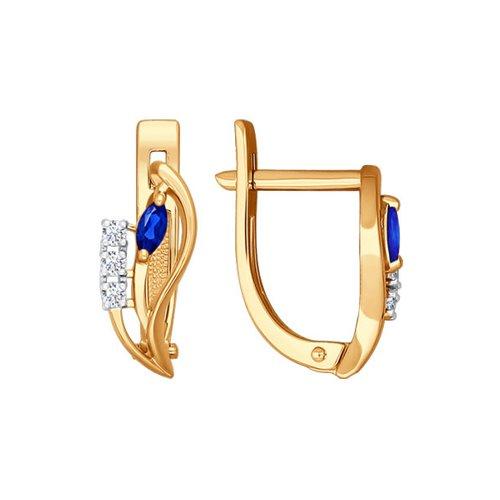 цена на Серьги SOKOLOV из золота с бриллиантами и сапфирами