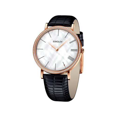 Женские золотые часы (210.01.00.001.02.01.2) - фото