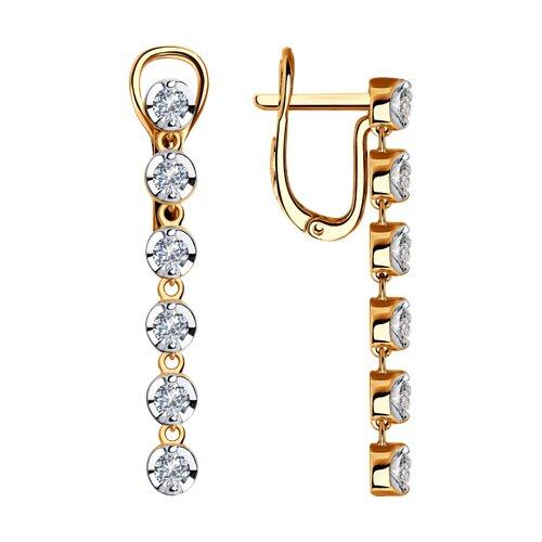 Серьги из золота с бриллиантами (1021304) - фото